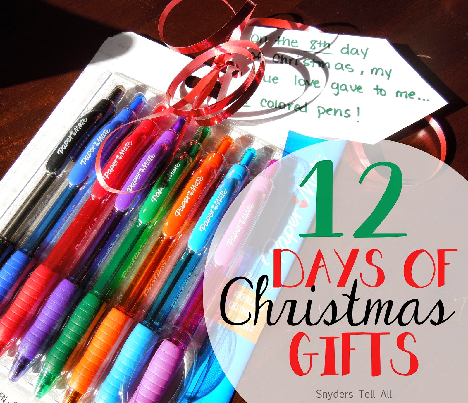 12 Days of Christmas Gifts - Joyfully Prudent