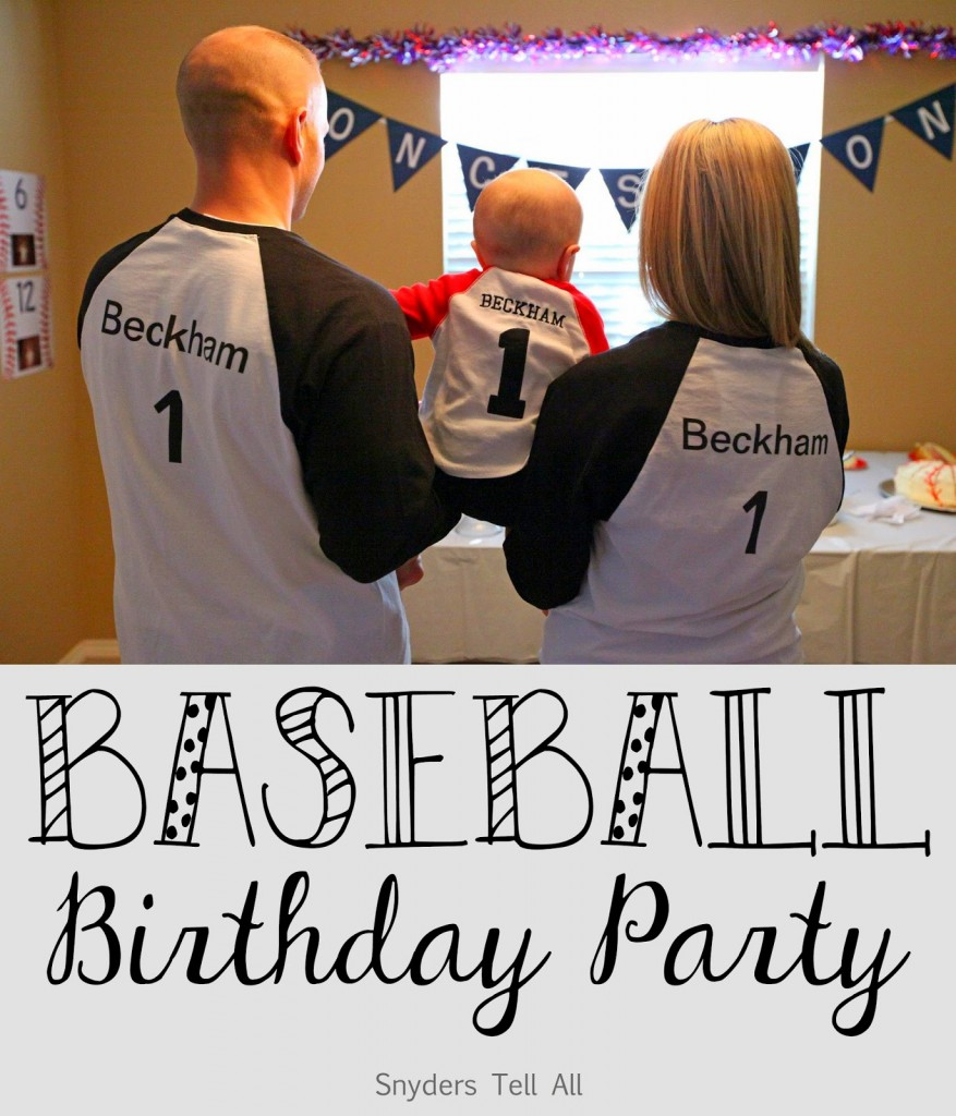 1st Birthday Baseball Theme