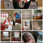 1st Birthday: Baseball Theme – Beckham Hits a HomeONE