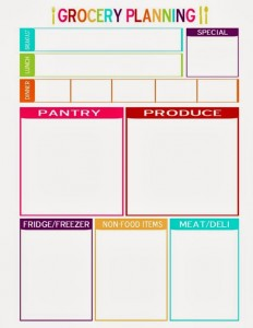 FREE Grocery Planning Template and How I Use It
