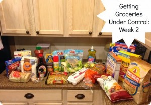 Getting Groceries Under Control Part 3: Week 2 Meals and Shopping