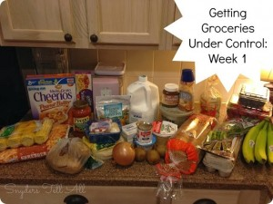 Getting Groceries Under Control Part 2: Week 1 Meals and Shopping