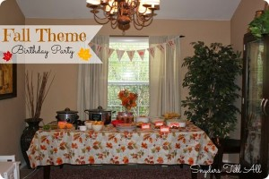 Fall Theme Birthday Party