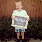 Beckham's First Day of Pre-School–2 Year Olds