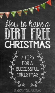 How To Prepare for Christmas DEBT FREE