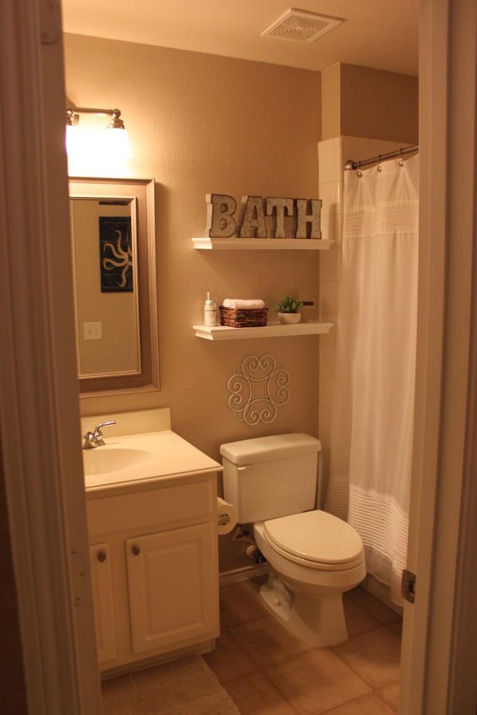 bathroom makeover joyfully prudent White Floating Shelves Cube Shelves