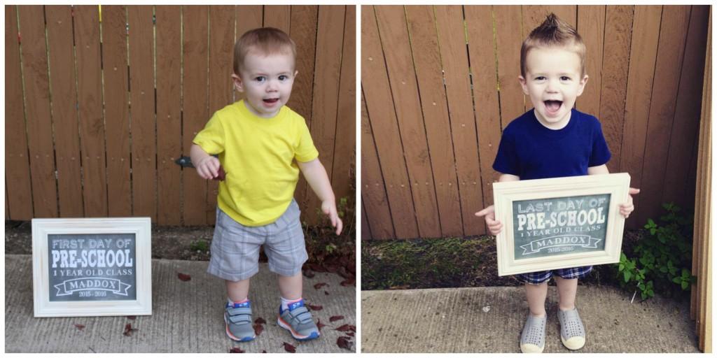 First Last Day of Preschool Maddox