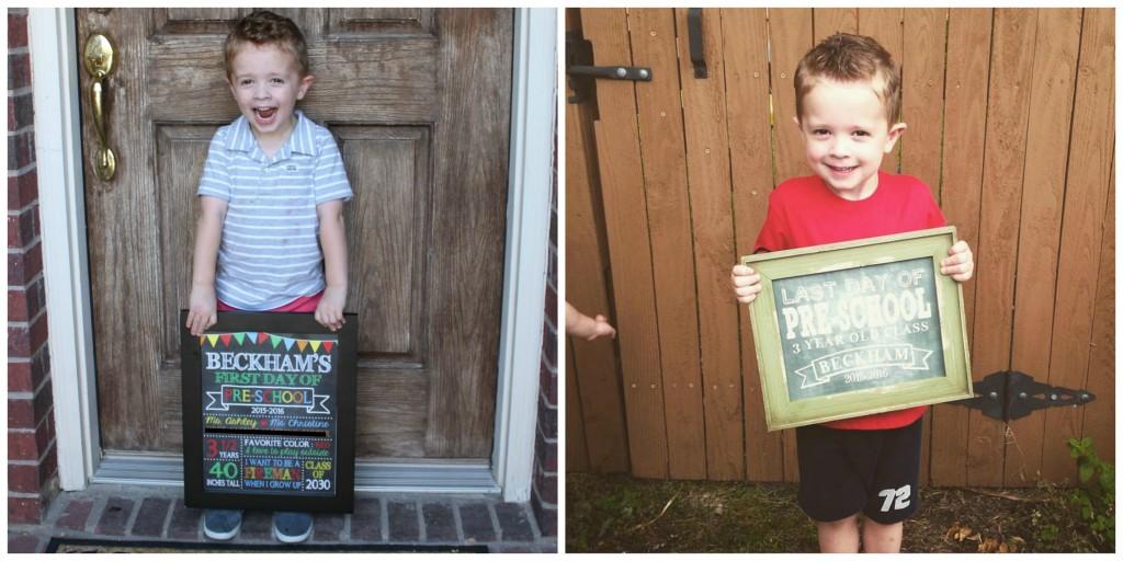 First Last day of preschool Beckham
