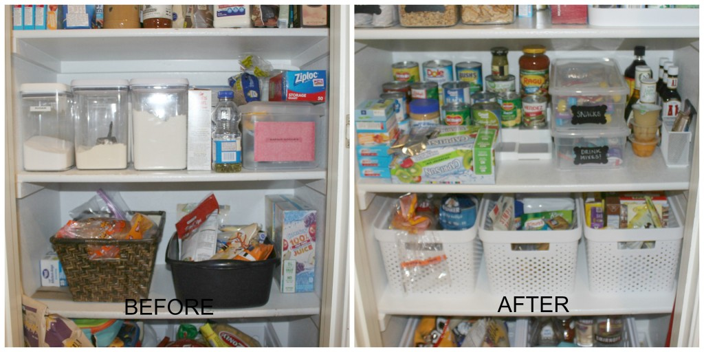 toward bottom of pantry