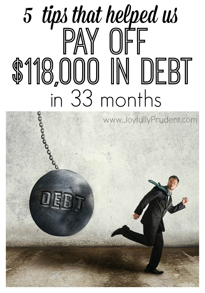 5 Tips to Pay off debt in 33 months