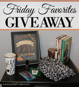 GIVEAWAY of My Favorites – Tons of Goodies