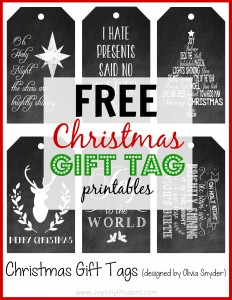 FREE Chalkboard Christmas Tags + Fun Weekend and Big News