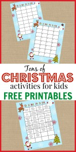 Christmas Activities for Kids + FREE Printable