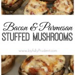 Bacon and Parmesan Stuffed Mushrooms