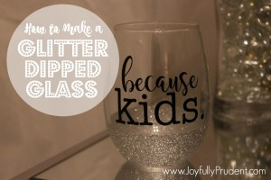 DIY: How to Make a Glitter Dipped Mug and Wine Glass