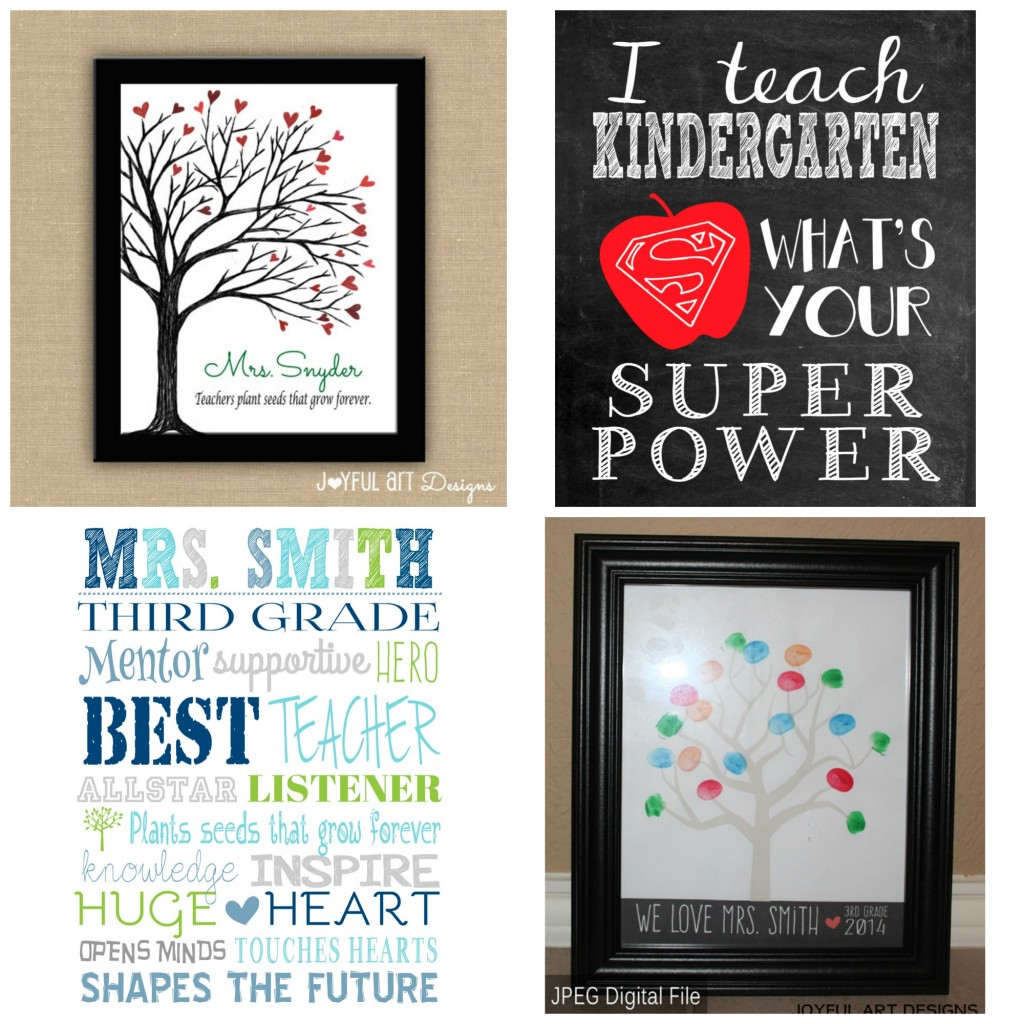 Teacher Gifts examples