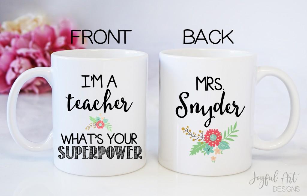 11oz Teacher superhero mock up watermark