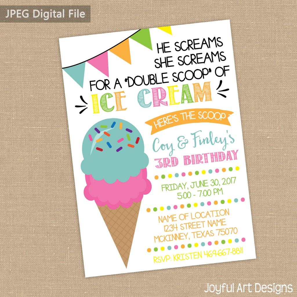 ETSY Ice Cream invite