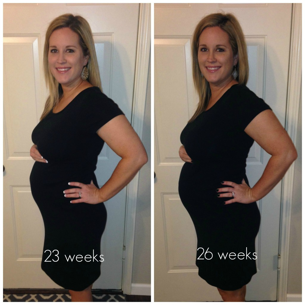 23 26 pregnancy. How far along? 26 weeks 2 days…(due date is October 7th)!  Total weight gain/loss? 12 pounds (but that was at 24 weeks when I had my  ...