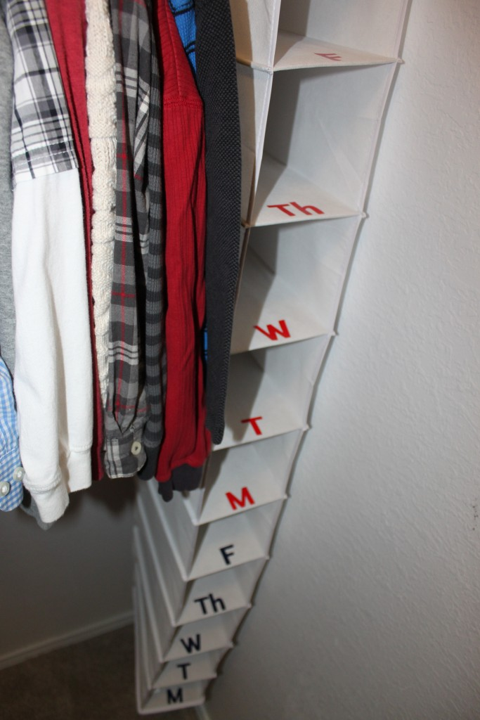 organized clothes for school