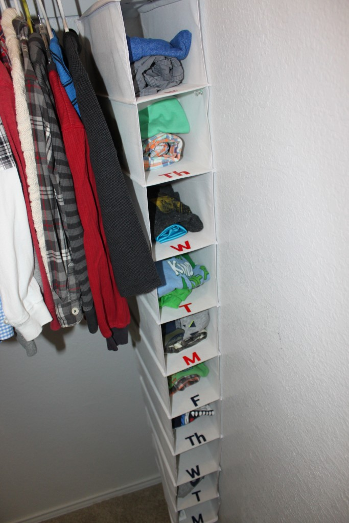 organized kids clothes