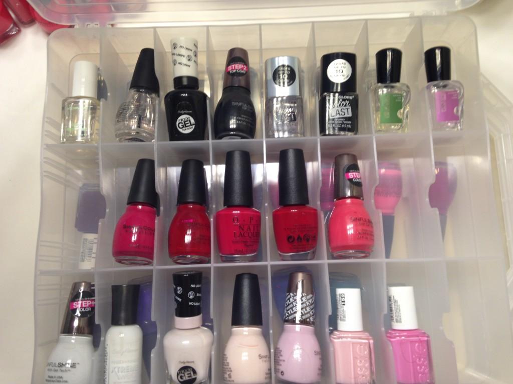 organized nail polish