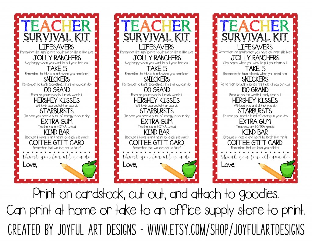 Survival Kit Tags