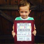 First Day of Kindergarten: Beckham