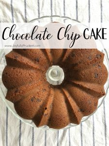 "Chocolate Chip Pound Cake  – ""Disappearing Cake"""